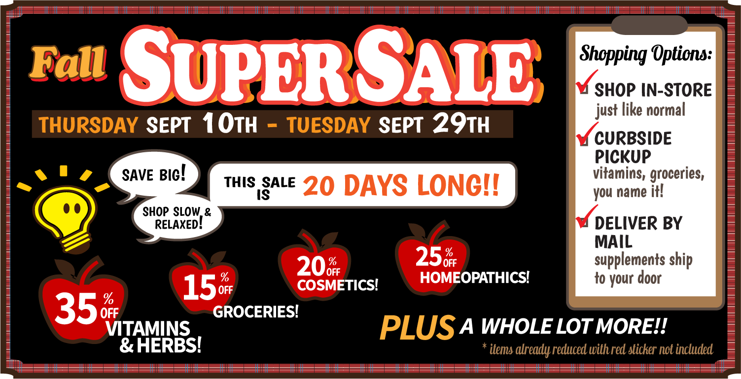 2020 autumn sale web ad - Sales & Specials